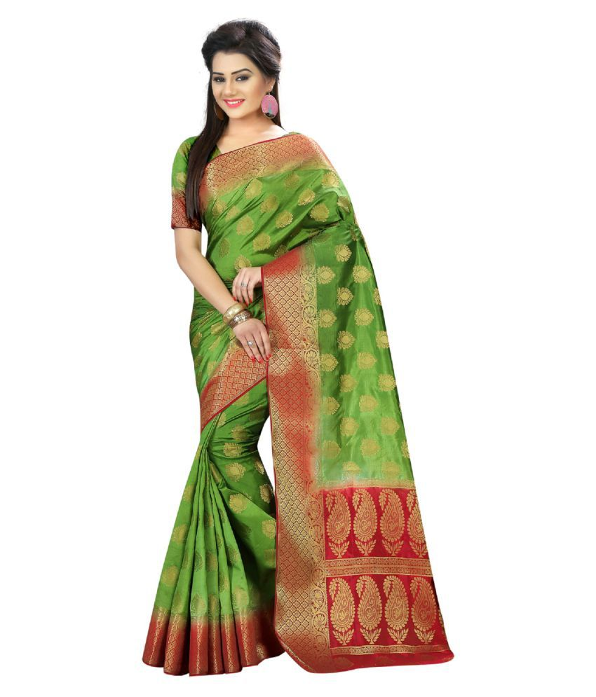 Harikrishna enterprise Multicoloured Silk Saree