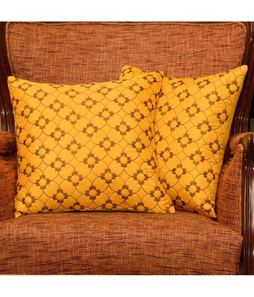 The Cushion Project Set of 2 Polyester Cushion Covers 40X40 cm (16X16)