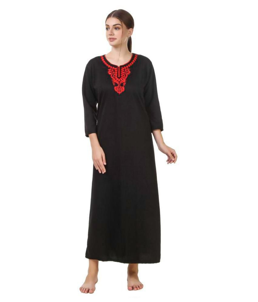 Alicia Woolen Nighty & Night Gowns - Red