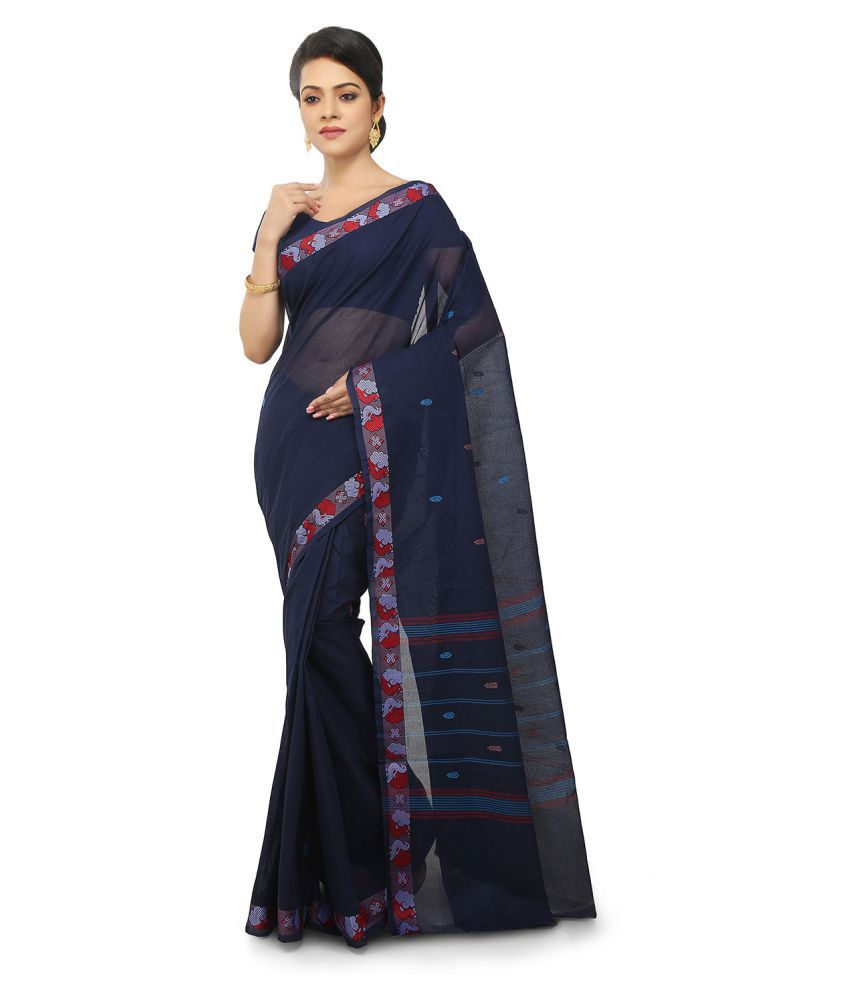 Pratami Blue Cotton Saree