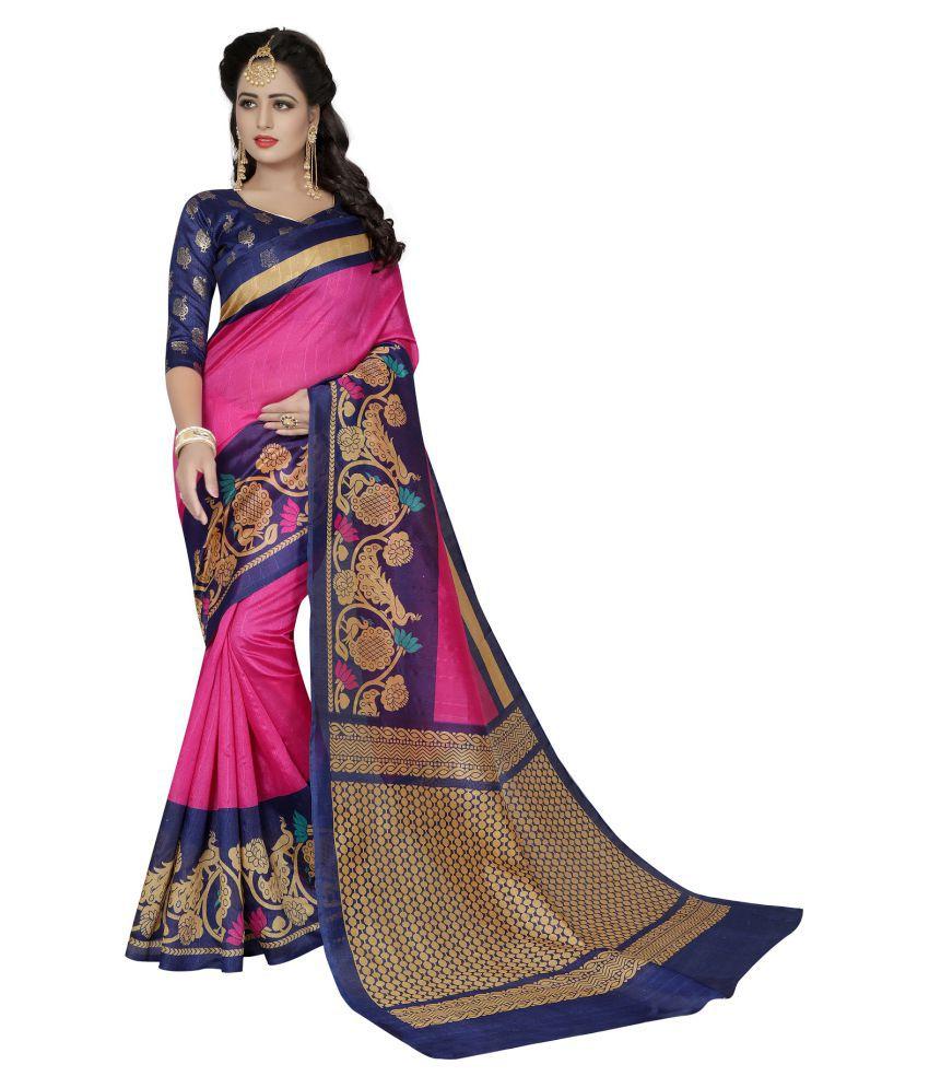 Harikrishna enterprise Multicoloured Silk Saree