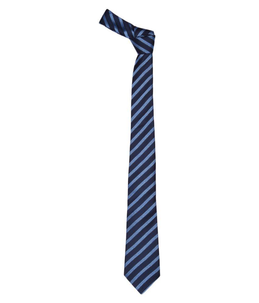 Alvaro Castagnino Blue Stripes Micro Fiber Necktie
