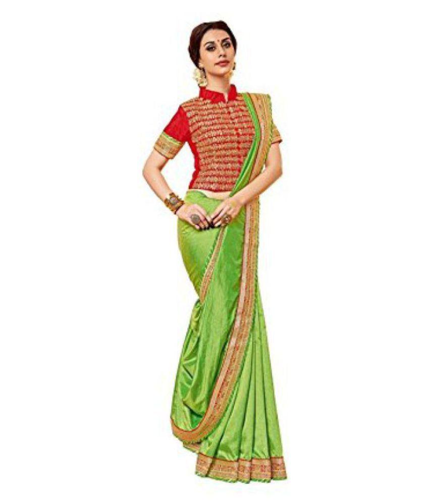 Ruchika Fashion Green Art Silk Saree