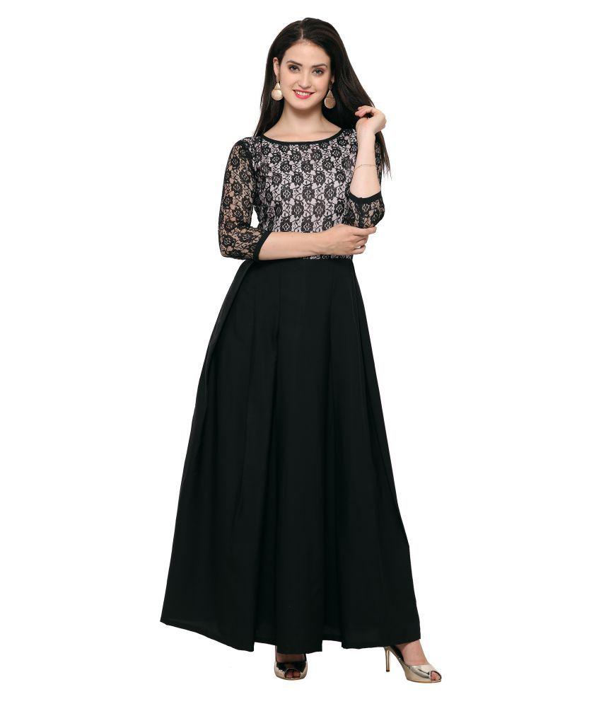 Fashion2wear Crepe Black Dresses