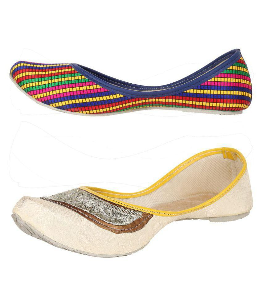 Sassily Multi Color Ethnic Footwear
