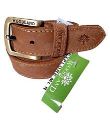 Woodland Brown Faux Leather Casual Belt