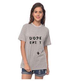 YOLOCLAN Cotton Grey T-Shirts