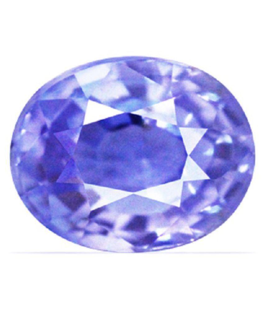 Certified 6.75 -Ratti IGL Blue Blue Sapphire (Neelam) Precious Gemstone