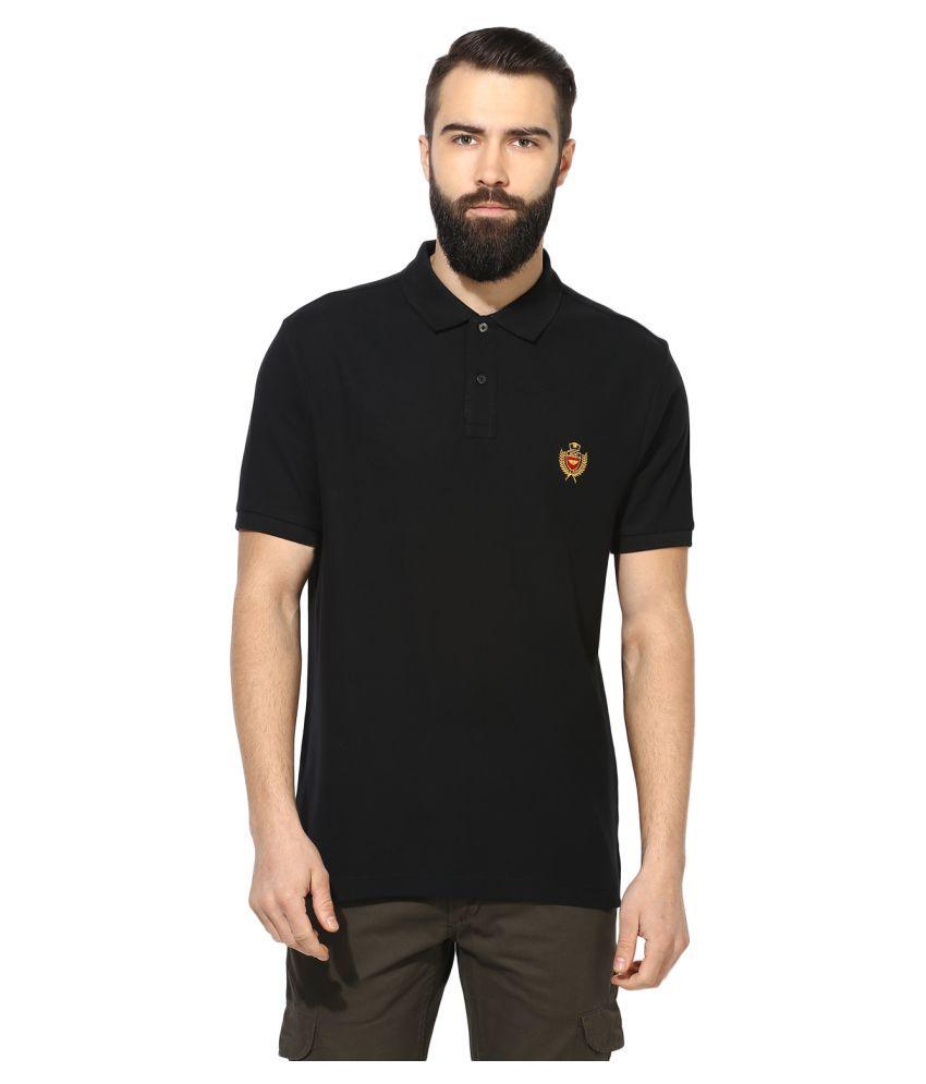 Red Tape Black High Neck T-Shirt
