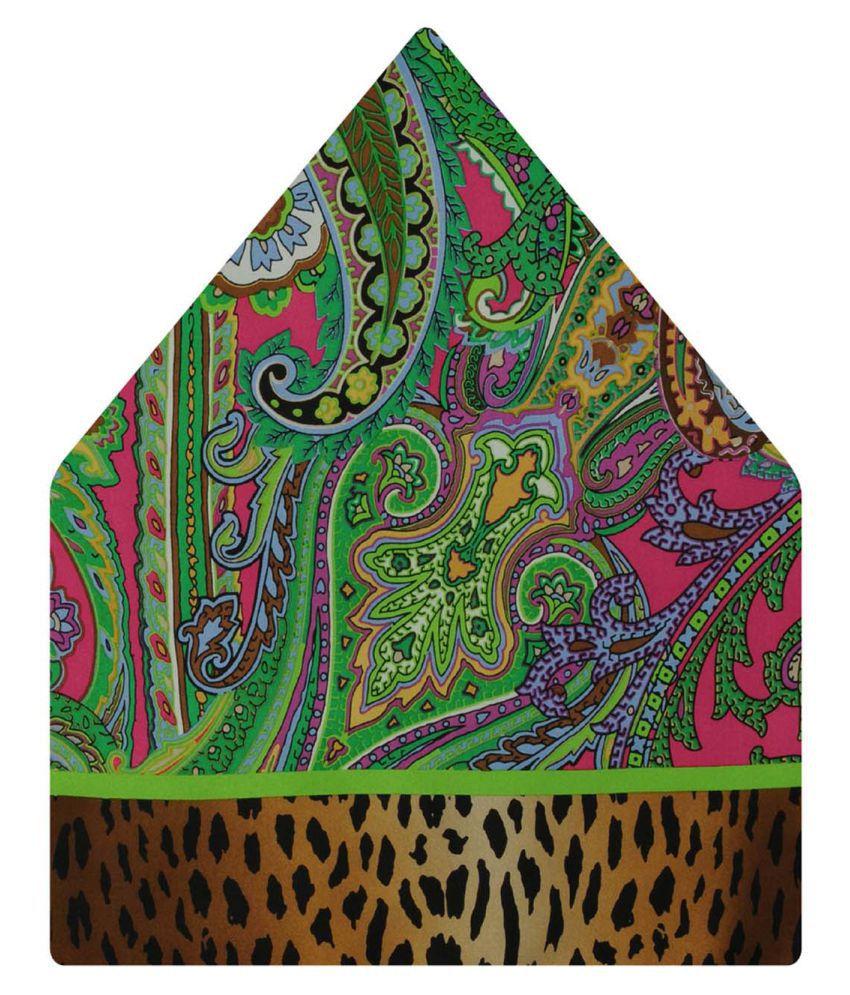 Tiekart Multi Paisley Silk Pocket Square for Men