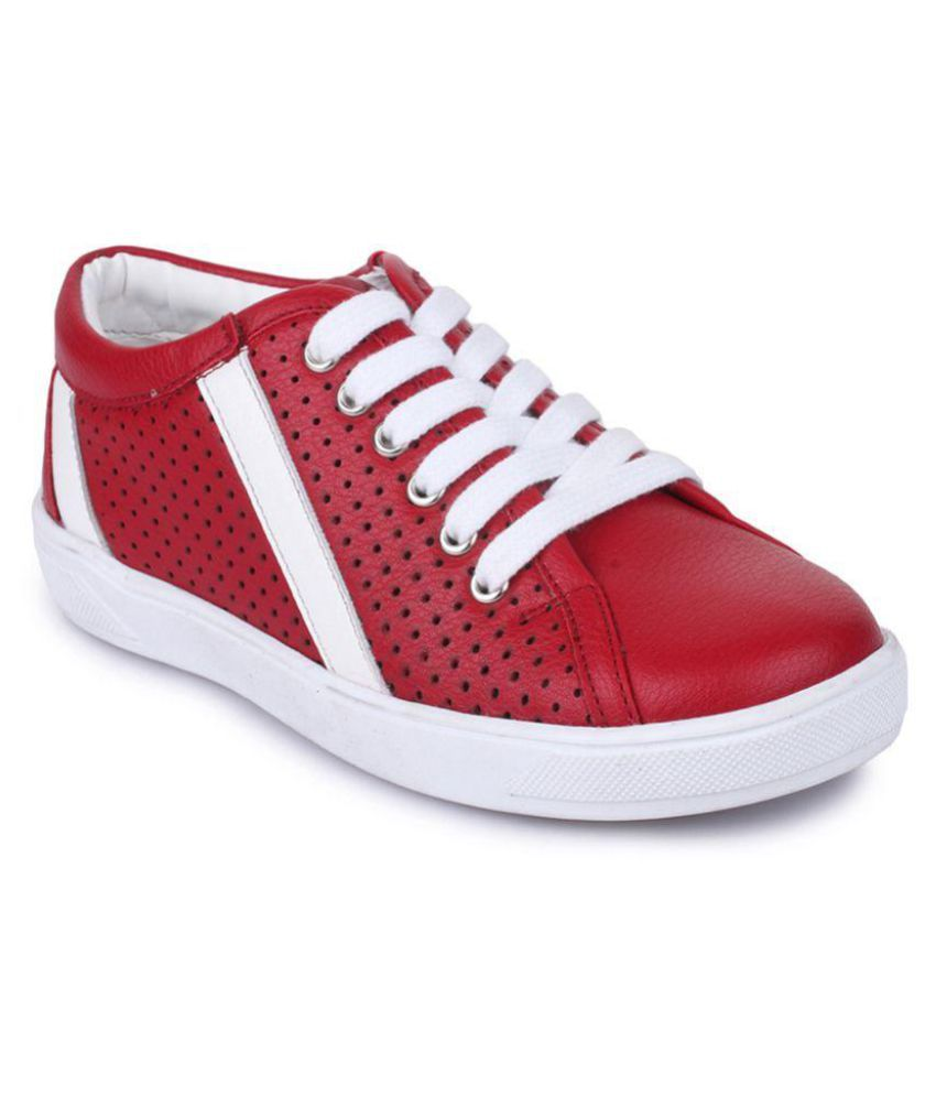 Bruno Manetti Unisex Kids Red Fabric Sneakers