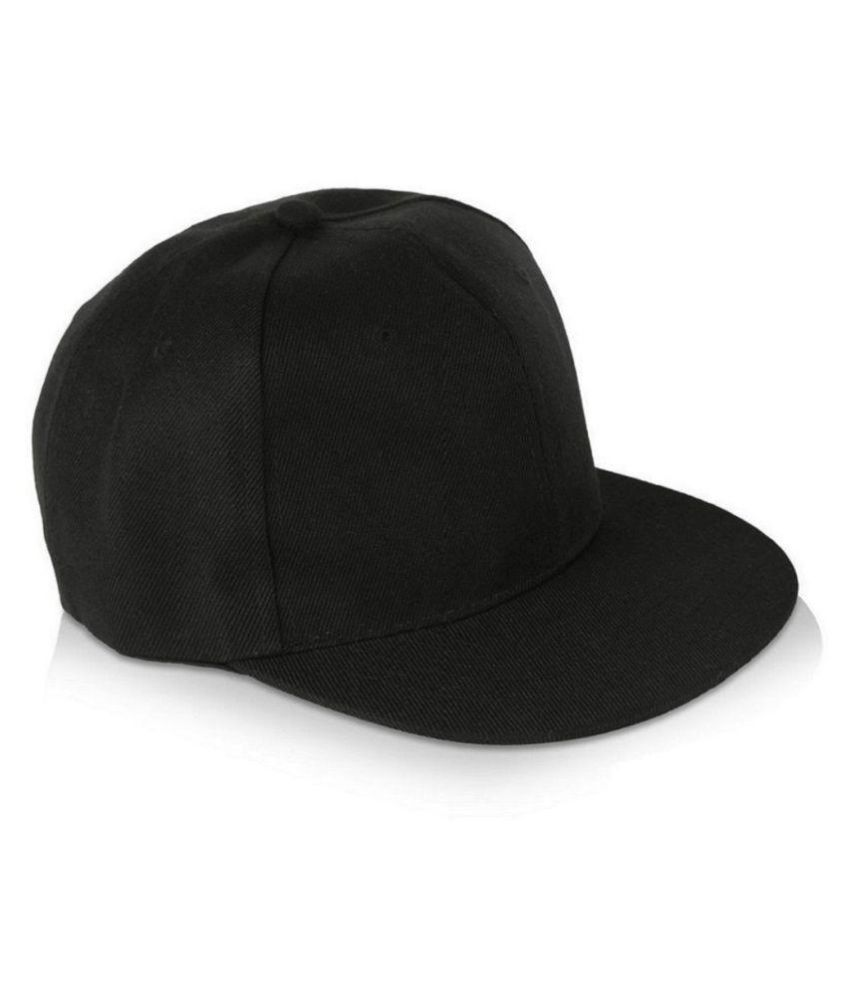 084e0597ef9 FashMade Black Plain Cotton Caps - Buy Online   Rs.