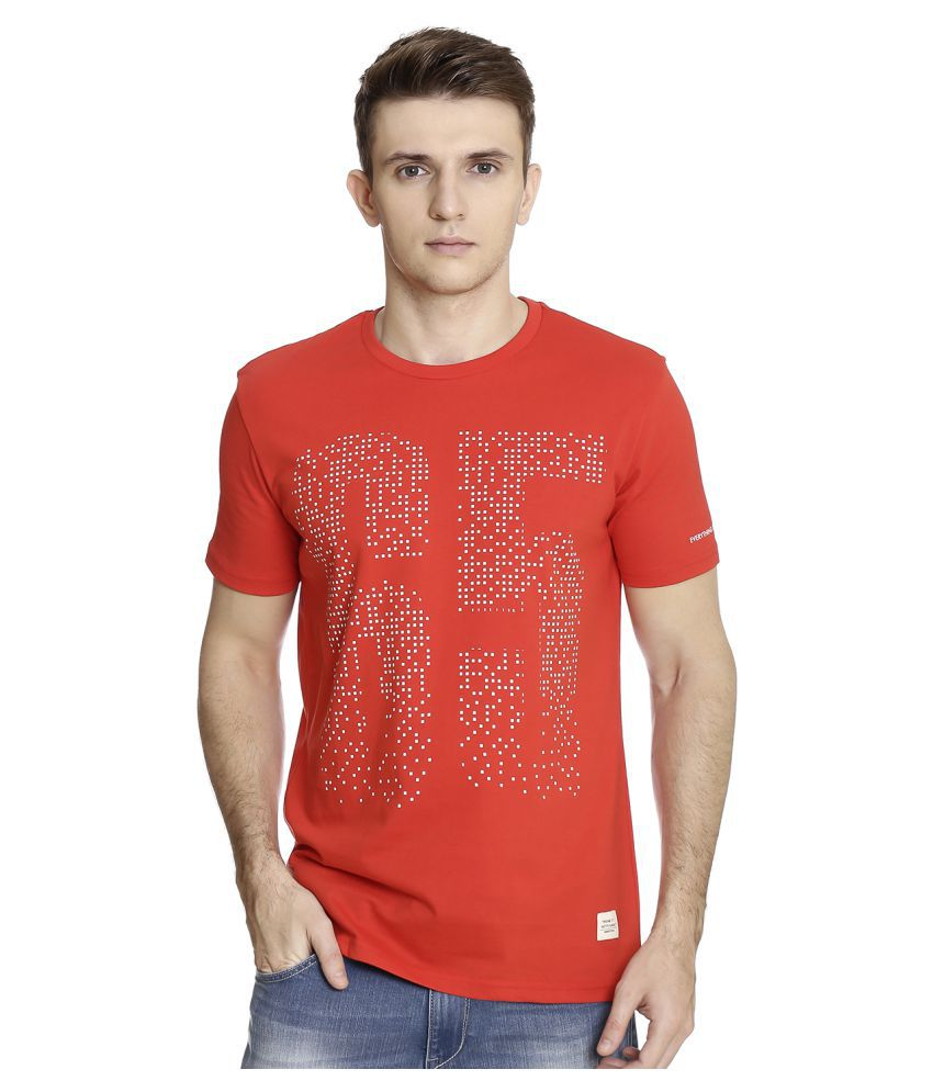 United Colors of Benetton Red Round T-Shirt