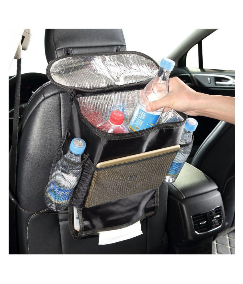connectwide Multi Pocket Organizer for Front Seat Side Black