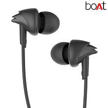 boAt Bassheads 100 In Ear Wired Earphones With Mic (Black) Handsfree
