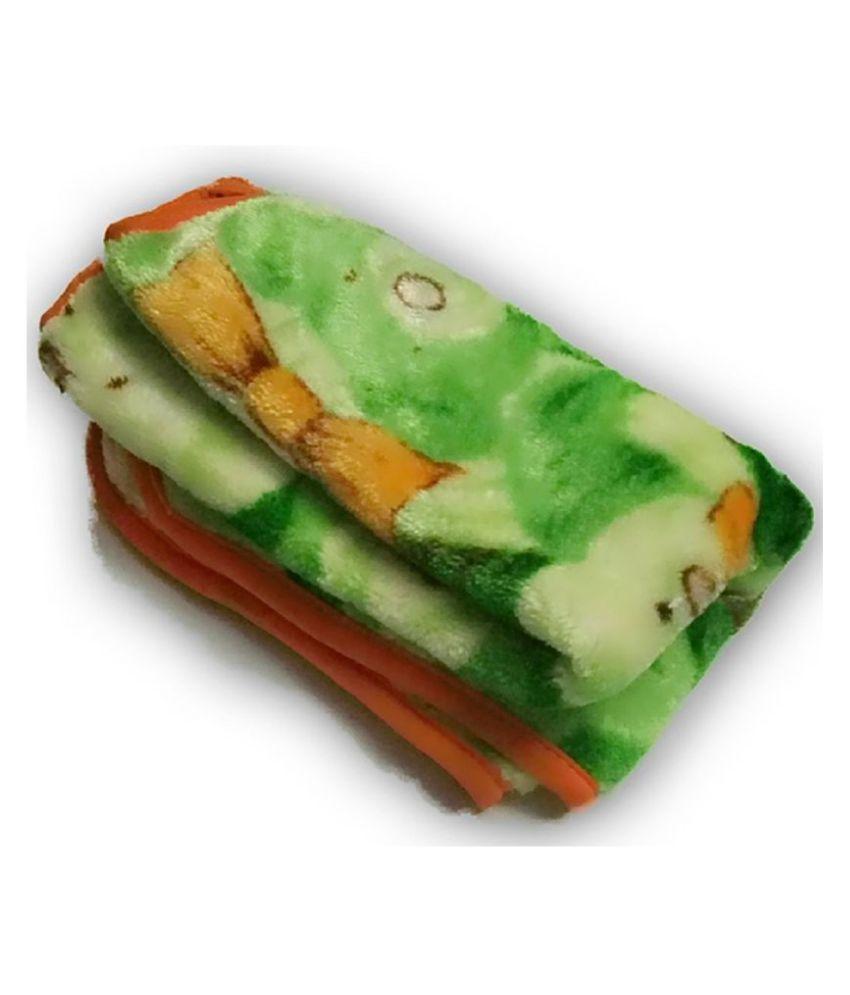 SAA Fashion - The Celebrity Trend Multi-Colour Fleece Baby Wrap cum blanket ( 60 cm × 45 cm - 1 pcs)