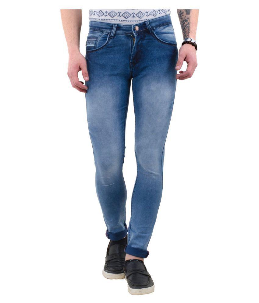 DRRAGON Blue Slim Jeans