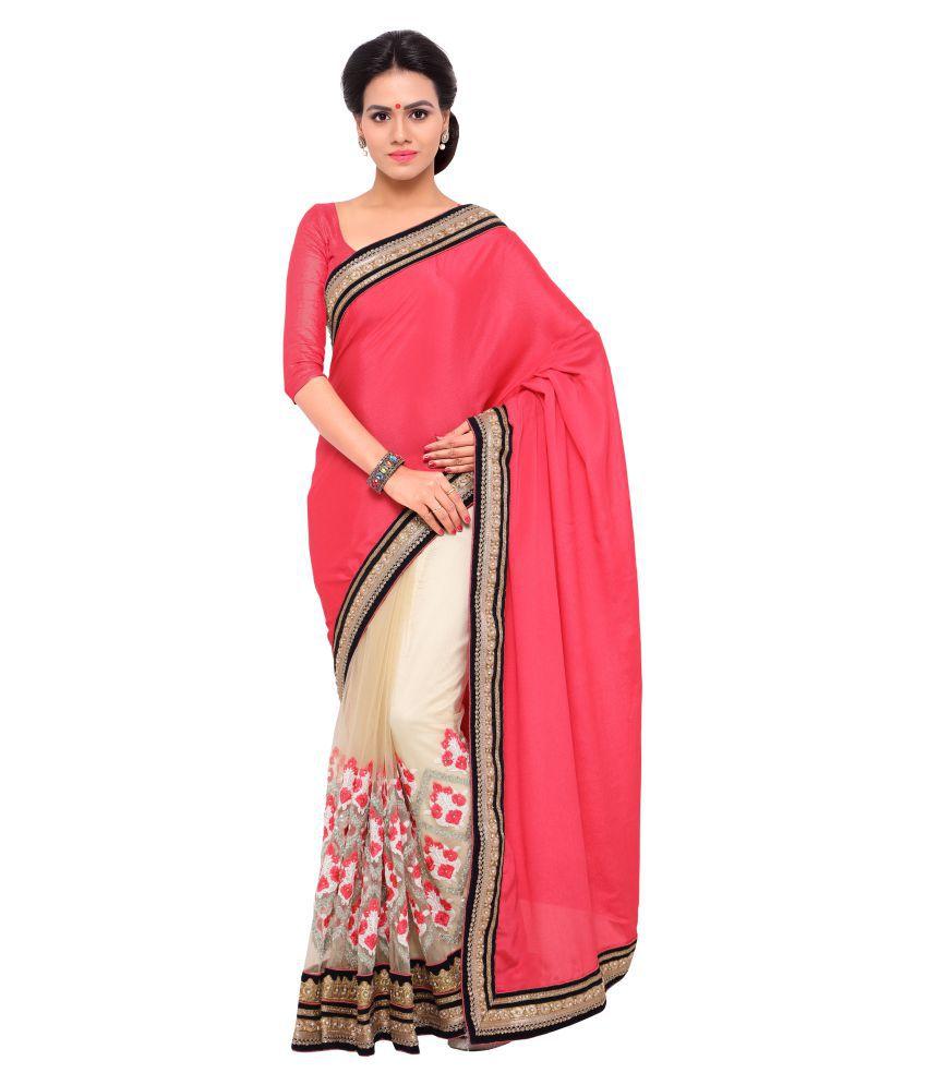 Urban India Multicoloured Chiffon Saree