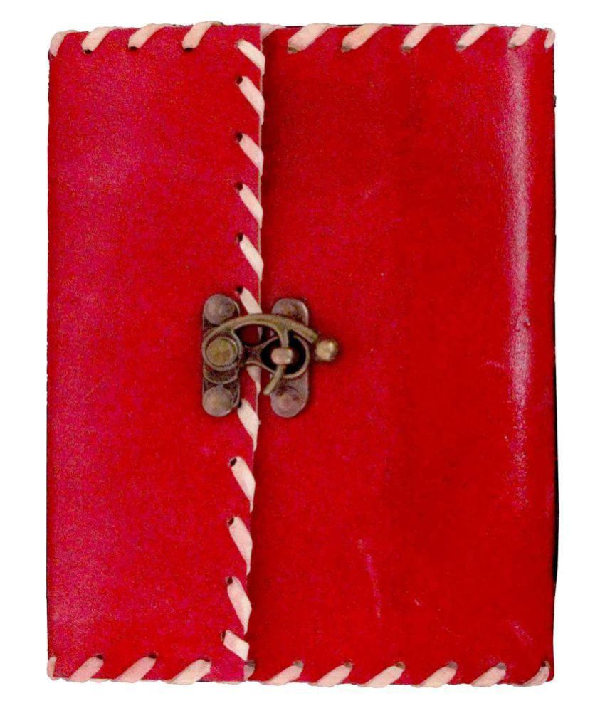 Pure Genuine Real Vintage Leather Handmadepaper Notebook Diary For office Home to Write Mangalmurti Poem Daily Update with matel Lock -Yellow Size of 4x6 inch (Red) Be the first to review  Have a question?