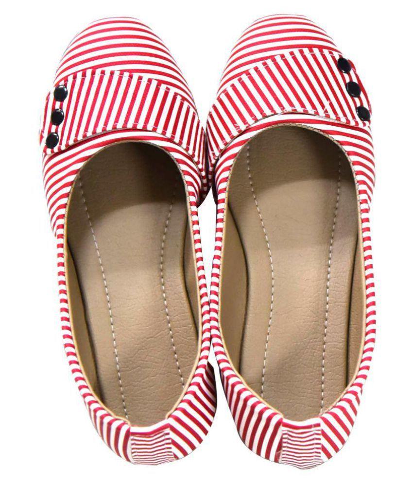 Magnus Red Ethnic Footwear