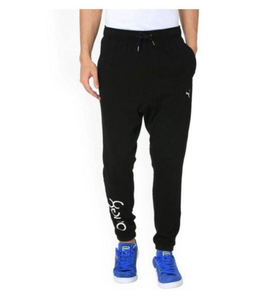 Puma Black Polyester One8 Viscose Sports Trackpants