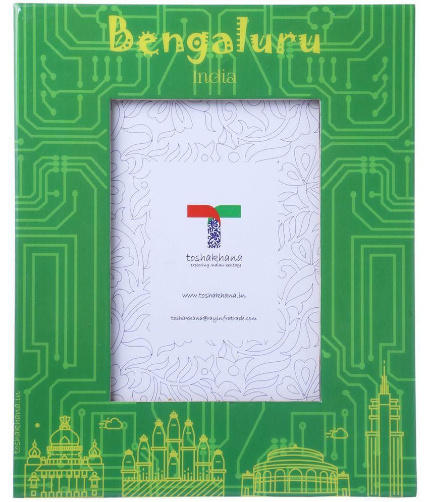 toshakhana MDF TableTop Green Single Photo Frame - Pack of 1