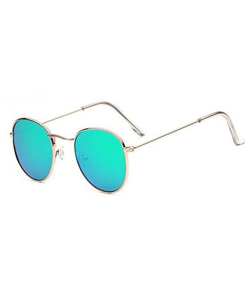 DALUCI Green Round Sunglasses ( Vintage Metal Frame Lens:Green Frame ...