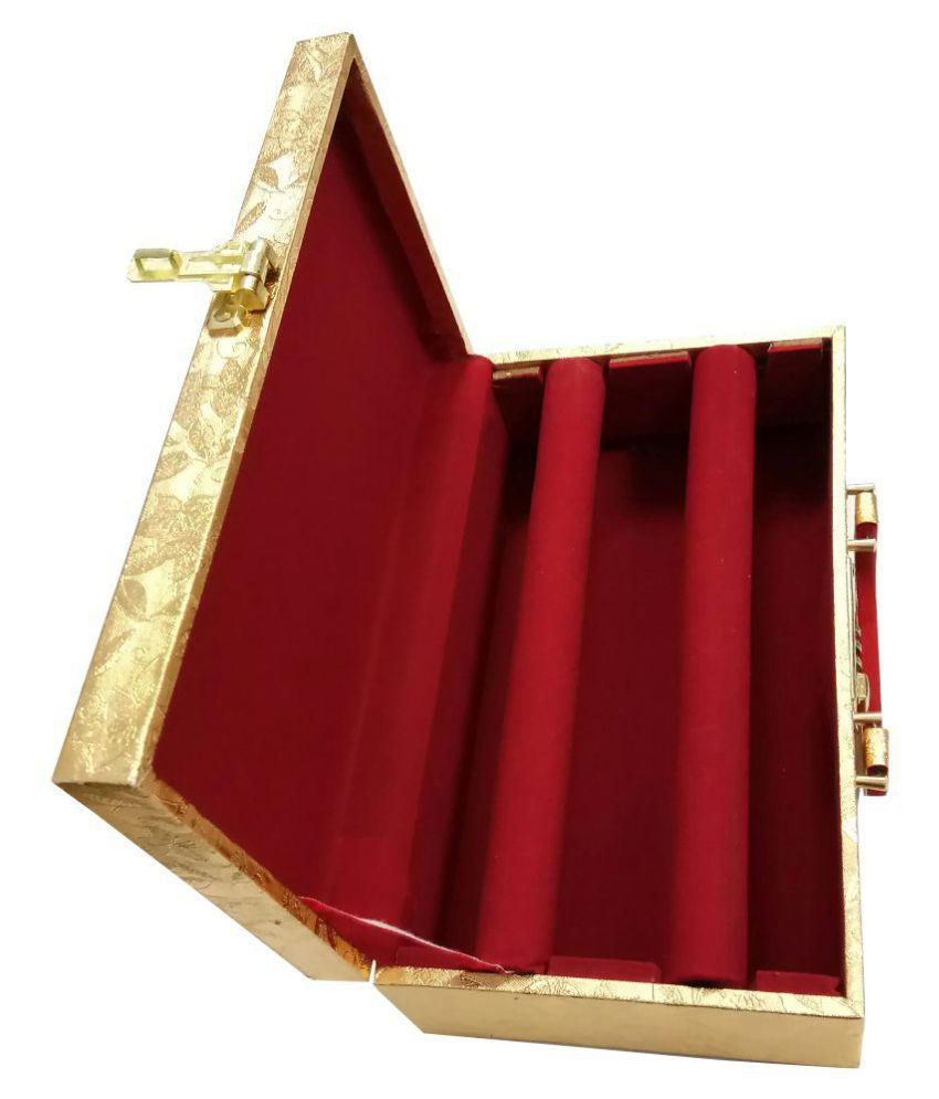 Golden wood Bangle box.