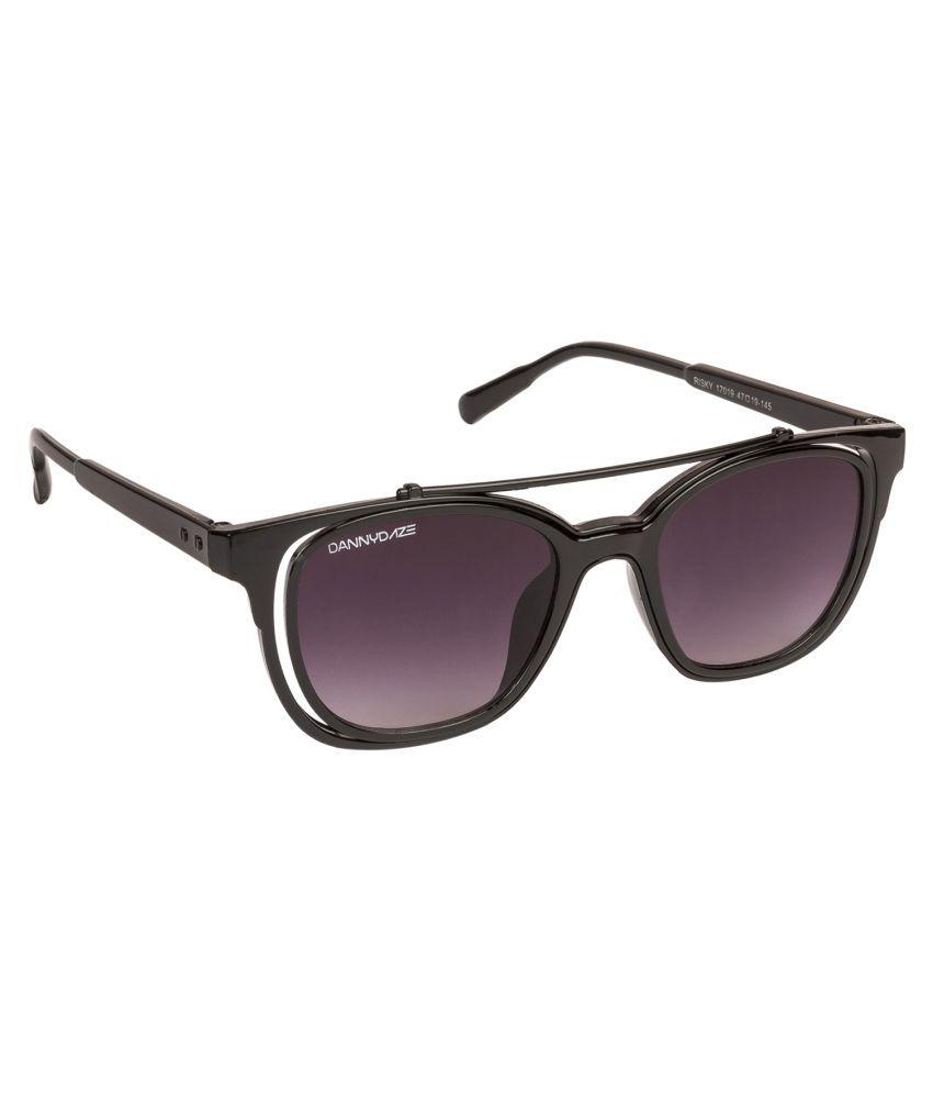 Danny Daze Black Wayfarer Sunglasses ( D-026-C1 )
