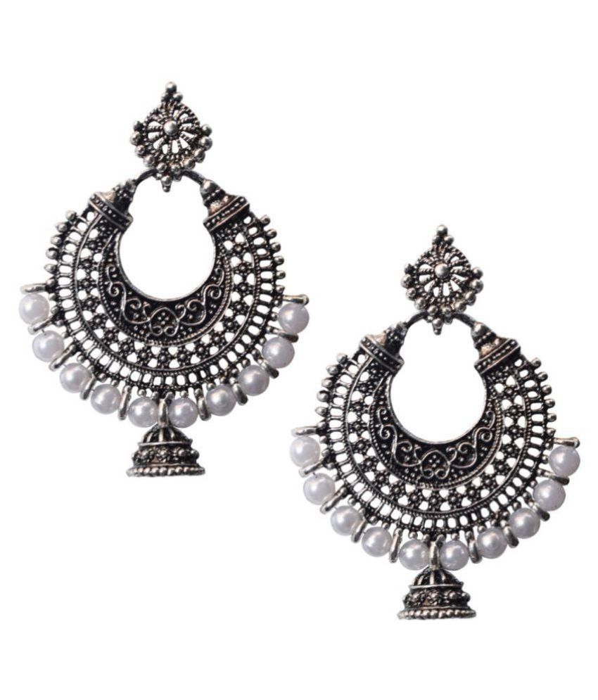 Slamay Fashion Bollywood Designer Silver Plated Party Wear Chandbali Jhumki  Jhumka Earrings for Womens - Buy Slamay Fashion Bollywood Designer Silver  Plated ... 25f3c268bb