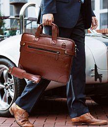 Home Story Brown P.U. Office Bag