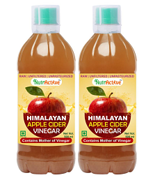 NutrActive Himalayan Apple Cider Vinegar with Mother of Vinegar 1000 ml Pack of 2