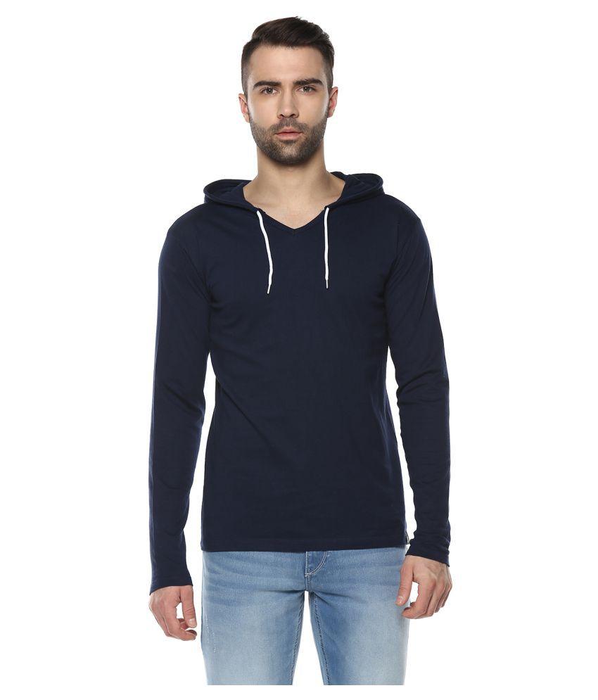 Urbano Fashion Navy Hooded T-Shirt
