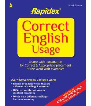 RAPIDEX CORRECT ENGLISH USAGE