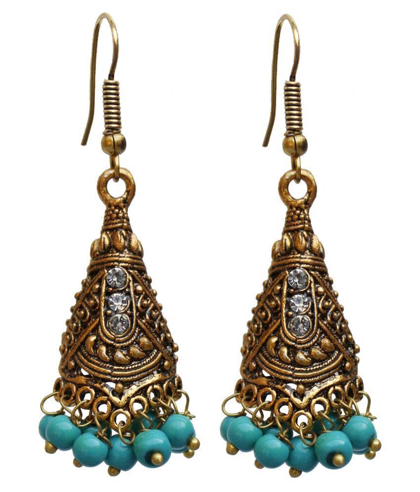 Lucky Jewellery Trendy Feroji Color Oxidised Plating Earring For Girls & Women