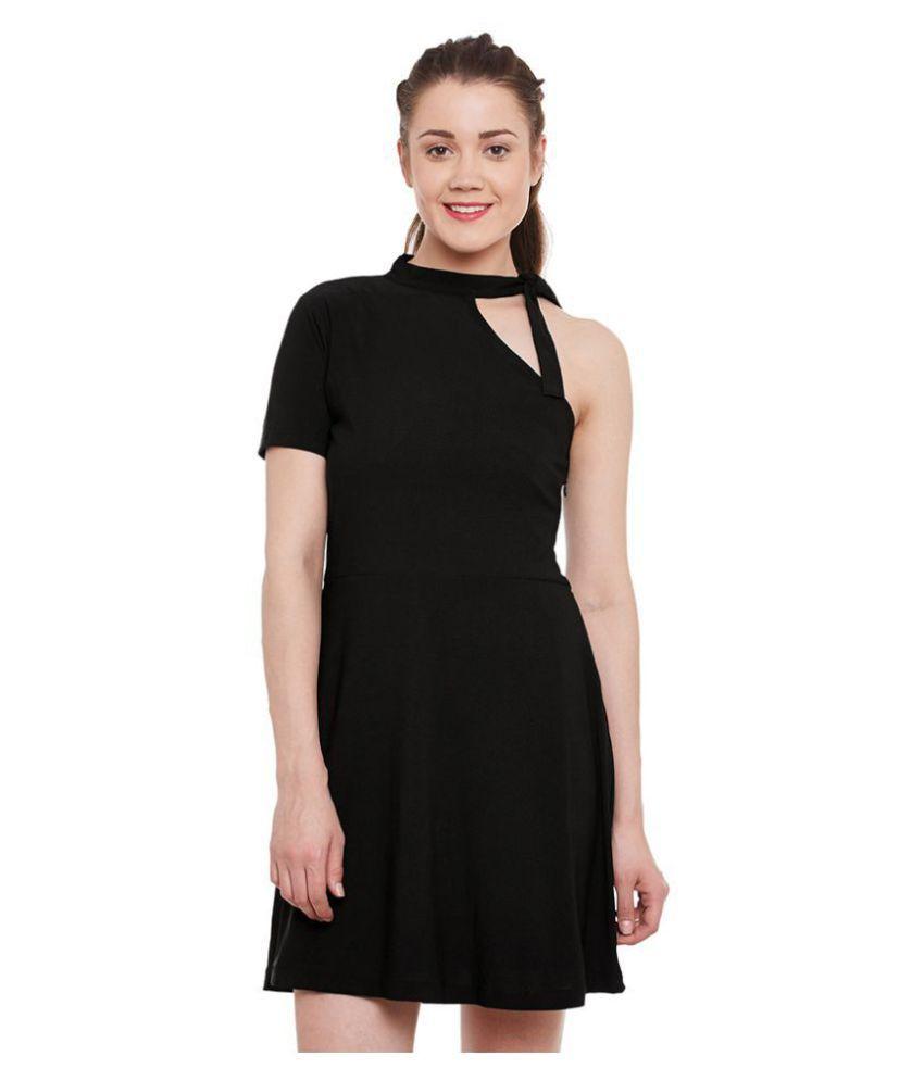 Miss Chase Polyester Black Dresses