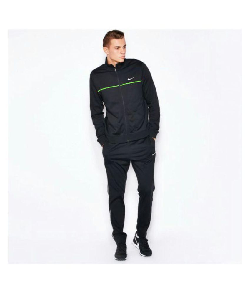 Nike Black Cotton Blend Tracksuit ...