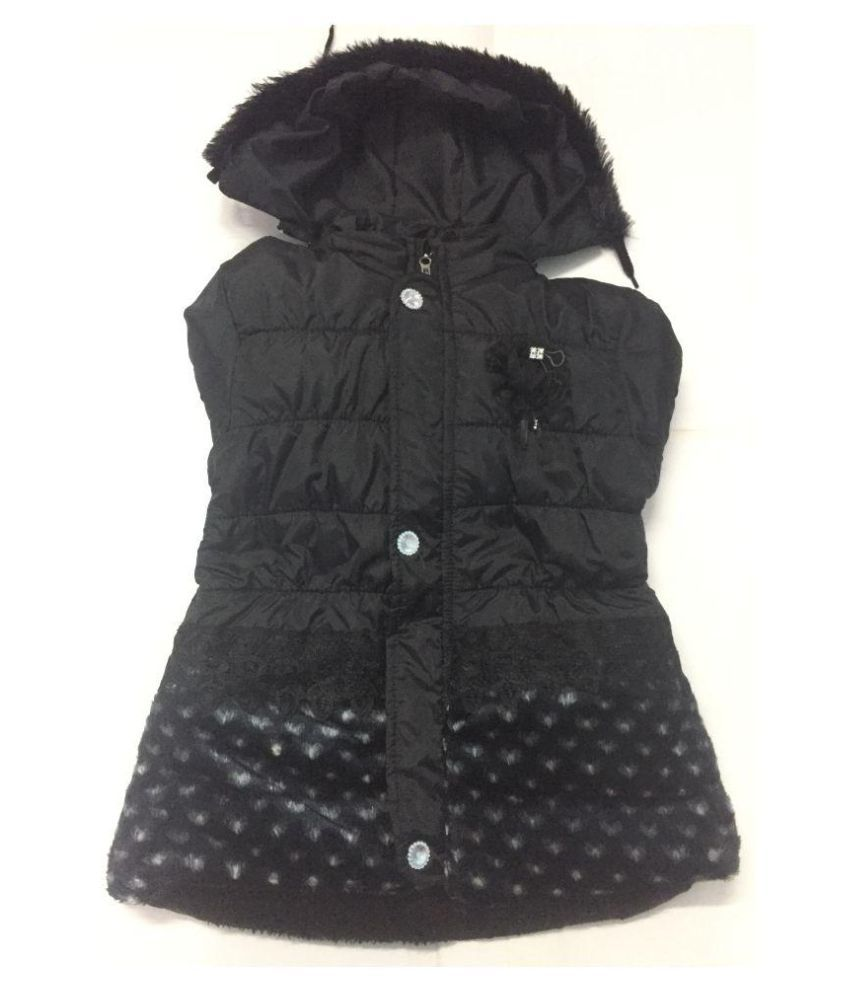 Black Colour Jackets for Baby Girls