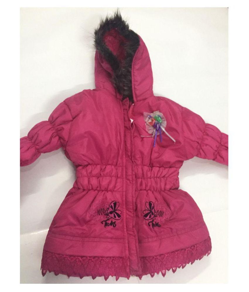 Pink Colour Jackets for Girls