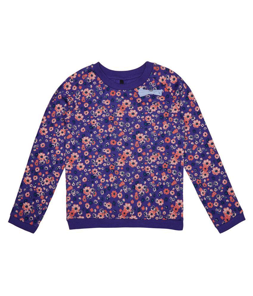 United Colors of Benetton Floral Printed Seatshirt - 16A3P67C12ACI902XL