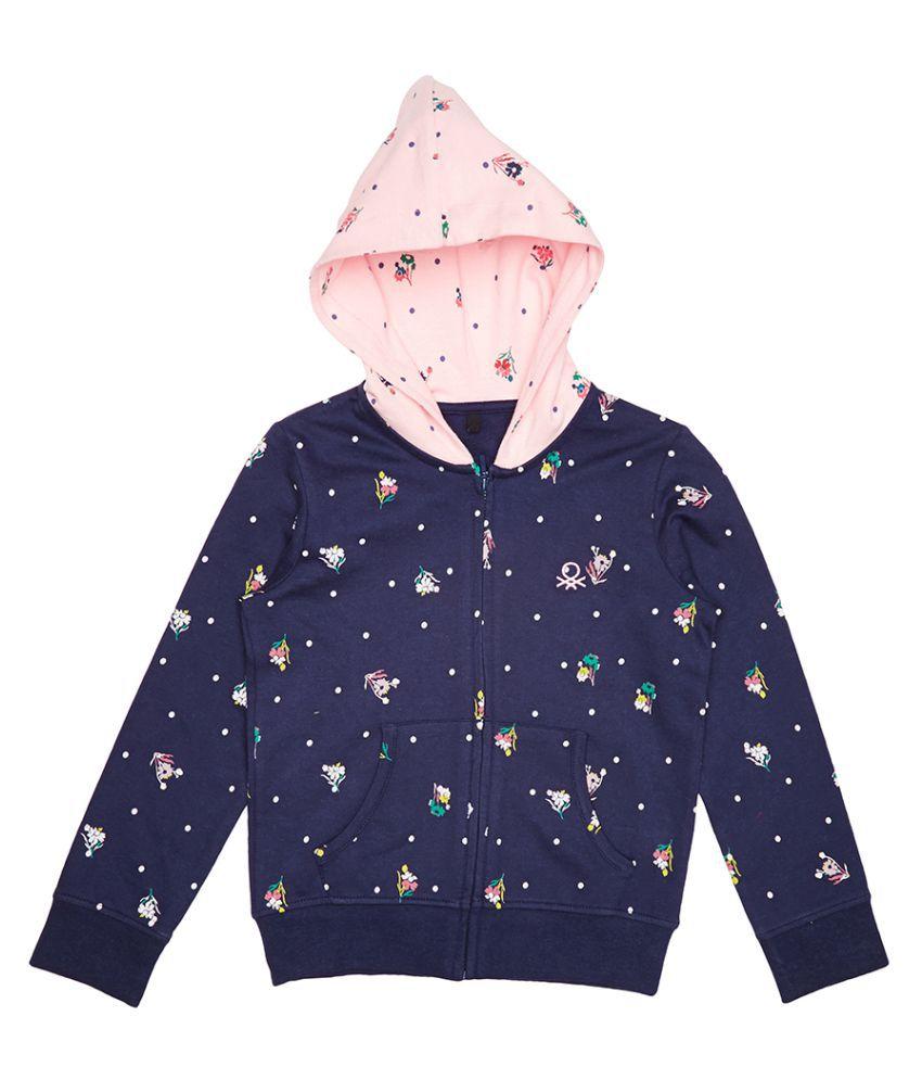 United Colors of Benetton Printed Hoodie Sweatshirt - 16A3096C0086IK32XL