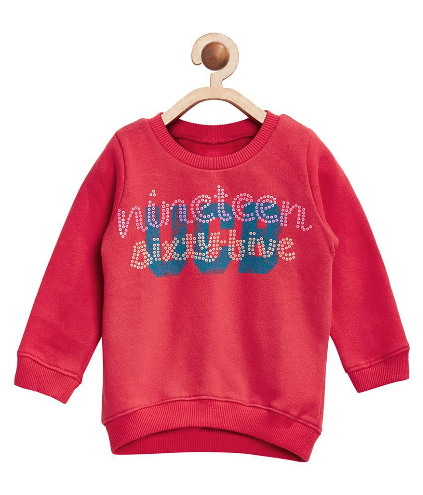 United Colors of Benetton Red Cotton Sweatshirt - 16A3BUYC12VYGK11EL