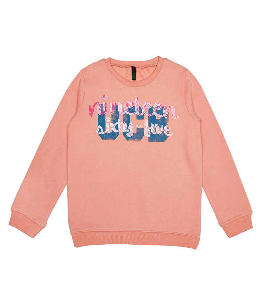 United Colors of Benetton Sweat With 1965 In Sequence - 16A3BUYC12VYGK19L