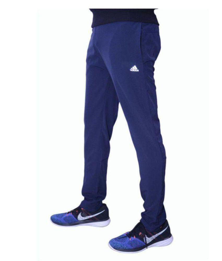 Adidas Navy Blue Sports Gymwear Track Pant For Men