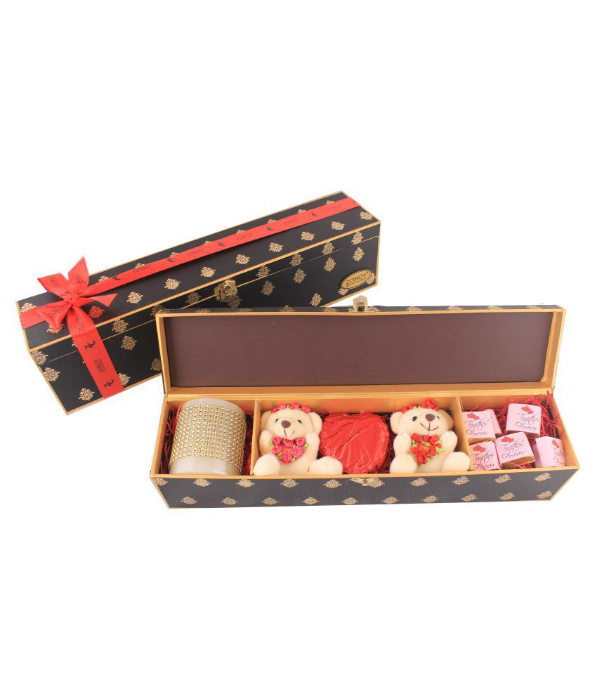Zoroy Luxury Chocolate Long love box with teddy Assorted Box Valentines day Love chocolate Gift box 1500 gm