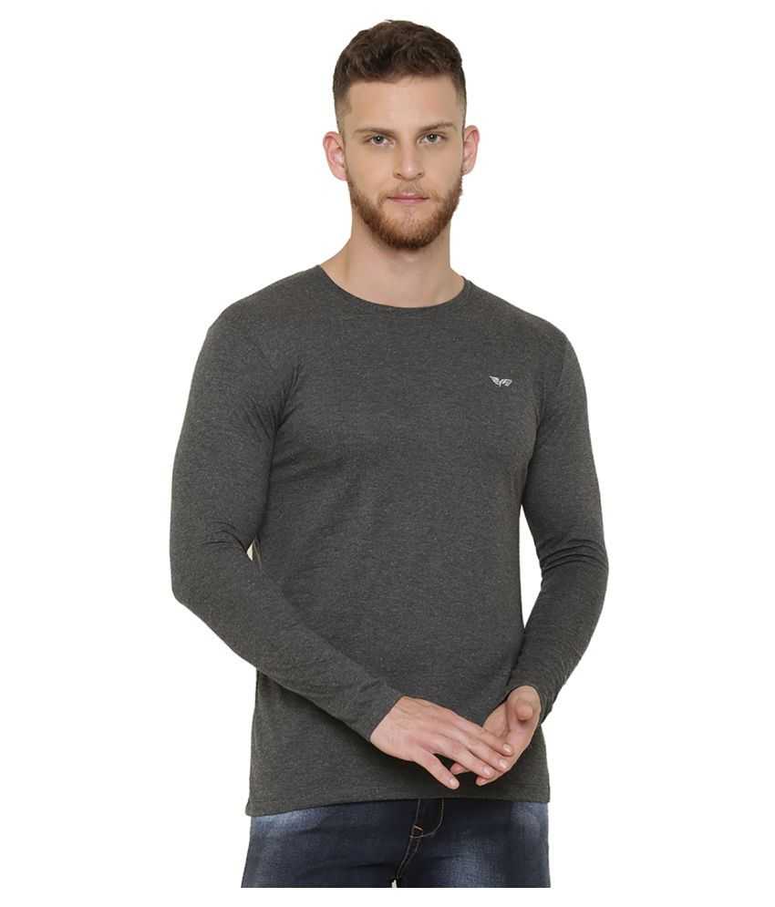 DEFENDER Grey Round T-Shirt Pack of 1