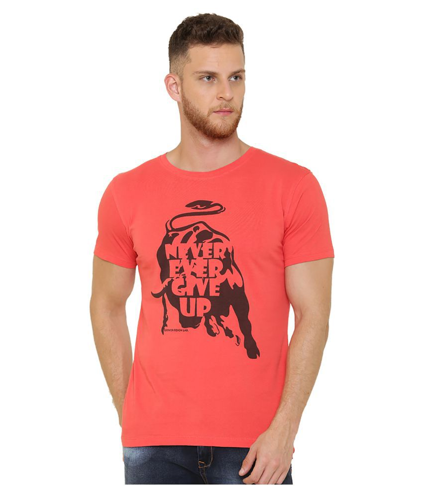 DEFENDER Red Round T-Shirt Pack of 1