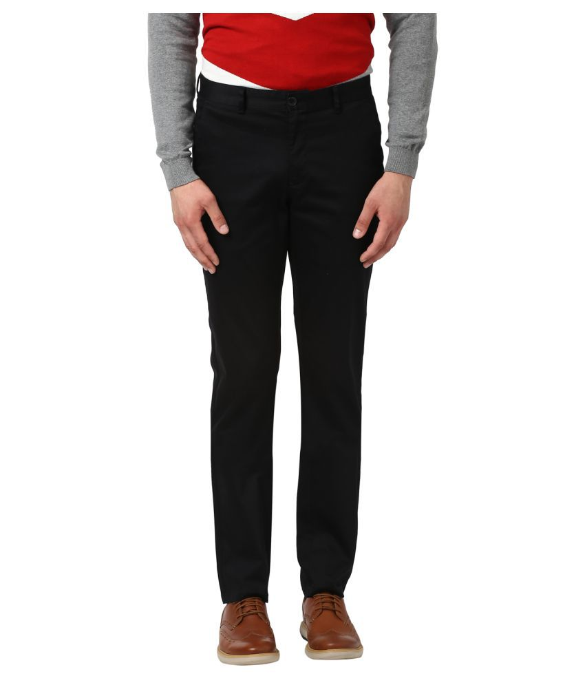 Colorplus Black Regular -Fit Flat Trousers