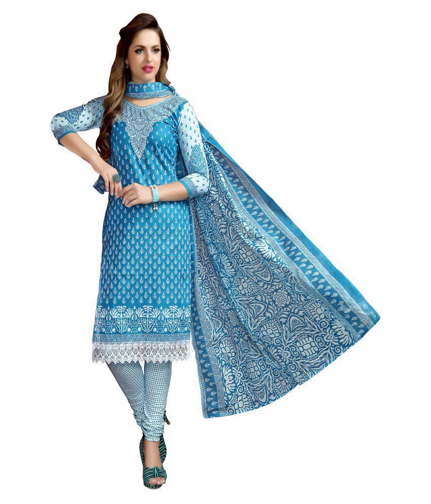 MINU Blue Cotton Straight Stitched Suit