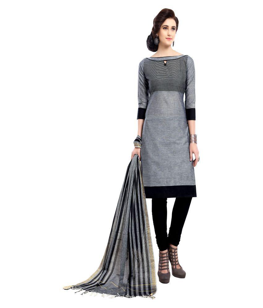 MINU Grey Cotton Straight Stitched Suit